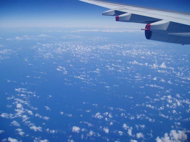 飛往美國的天空