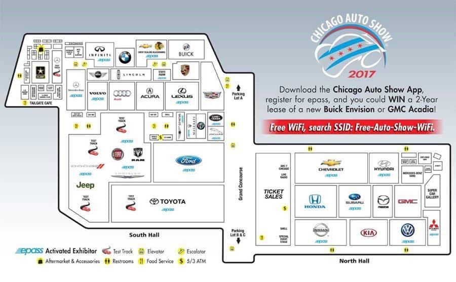 芝加哥車展平面圖